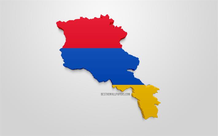 Herunterladen Hintergrundbild 3d Flagge Von Armenien Landkarte Silhouette Von Armenien 3d Kunst 3d Armenien Flagge Europa Armenien Geographie Armenien 3d Silhouette Fur Desktop Kostenlos Hintergrundbilder Fur Ihren Desktop Kostenlos