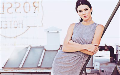 Kendall Jenner, 4k, Penshoppe photoshoot, american actress, beauty, brunette woman, movie stars, american celebrity, Jenner sisters, Kendall Jenner brunette