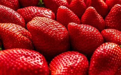 strawberries, large berries, background with strawberries, fruits, healthy food, berries