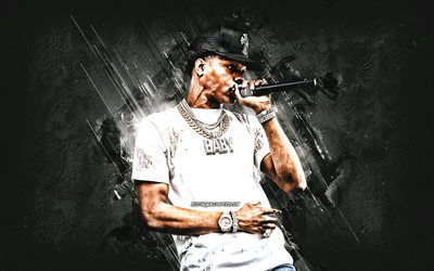 thumb lil baby dominique armani jones american rapper portrait stone gray background