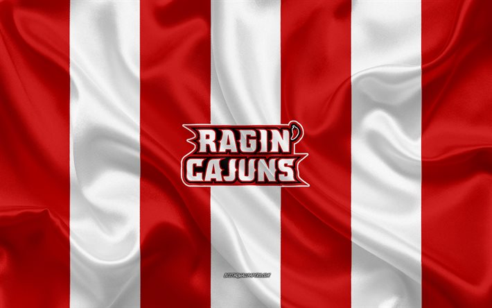 Download Wallpapers Louisiana Ragin Cajuns American Football Team Emblem Silk Flag Red And White Silk Texture Ncaa Louisiana Ragin Cajuns Logo Lafayette Louisiana Usa American Football For Desktop Free Pictures For Desktop