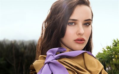 Katherine Langford, Australian actress, portrait, make-up, Marie Claire