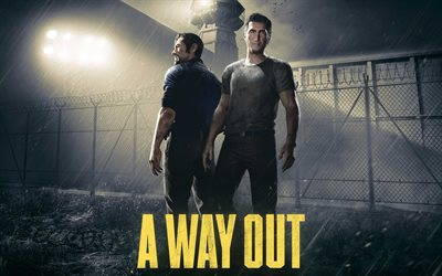 A Way Out, 4k, 2017 games, poster, action