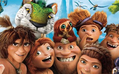 The Croods 2, 2017, New cartoons, all characters, family