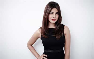 Priyanka Chopra, 4k, portrait, Indian actress, beautiful woman