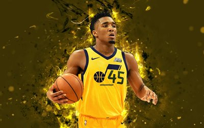 download wallpapers 4k, donovan mitchell, abstract art