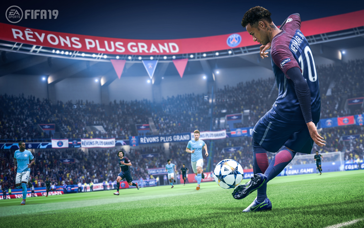 Download Wallpapers 4k Neymar Fifa19 Rapana 2018 Games Psg Football Simulator Fifa 19 Neymar Jr For Desktop Free Pictures For Desktop Free