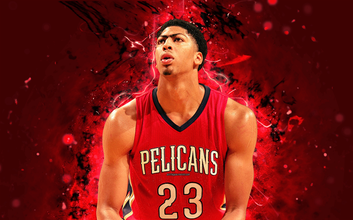 Download Wallpapers 4k Anthony Davis Abstract Art Basketball