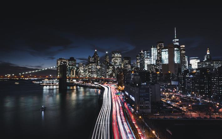 Télécharger Fonds Décran 4k Manhattan à New York Le Pont