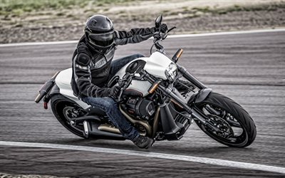 Harley-Davidson FXDR 114, 2019, cool bike, exterior, new white FXDR, american motorcycles, Harley-Davidson