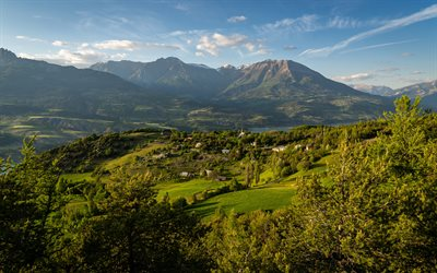Hautes-Alpes, 4k, beautiful nature, summer, Provence, Alpes, Cote dAzur, France, Europe