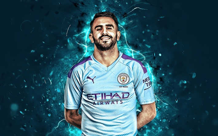 Download Wallpapers Riyad Mahrez, Season 2019-2020