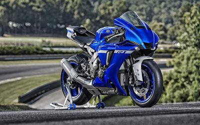 Yamaha YZF1000R1, 2020, sports bike, exterior, new blue YZF, japanese motorcycles, Yamaha
