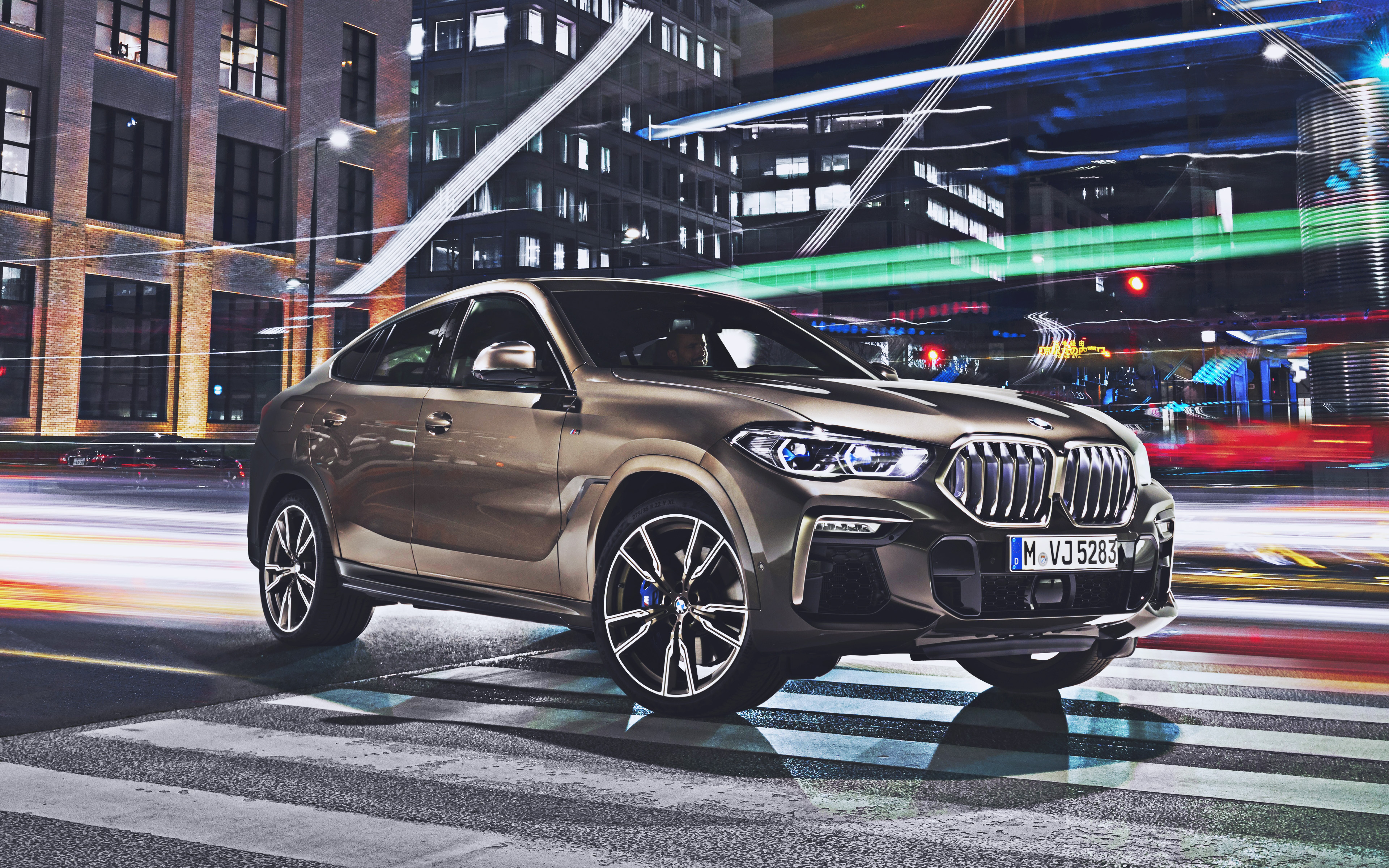 4k, BMW X6, street, 2019 cars, G06, luxury cars, 2019 BMW X6, german cars, New X6, BMW