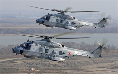 NHIndustries NH90, french military helicopter, military transport helicopter, NH90 NFH, French Navy, Marine Nationale, Eurocopter