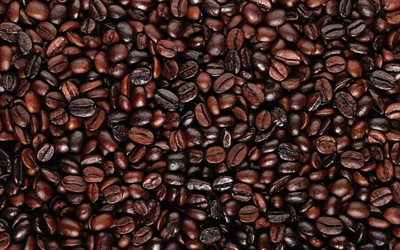 coffee beans texture, macro, natural coffee, arabica, coffee textures, coffee backgrounds, coffee beans, close-up, coffee, arabica beans