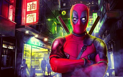 Deadpool, creative art, portrait, superhero, main characters