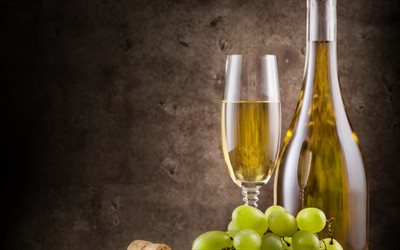 White wine, grapes, wine cellar, white grapes, fruit