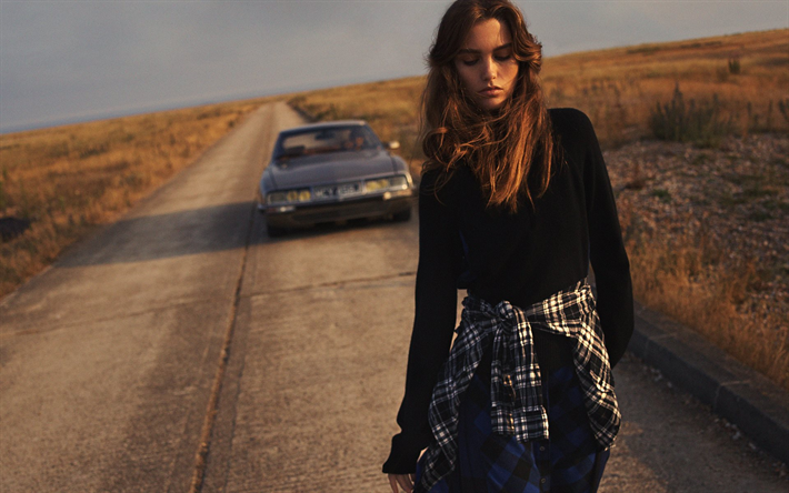 Download wallpapers Luna Bijl, photoshoot, Dutch fashion