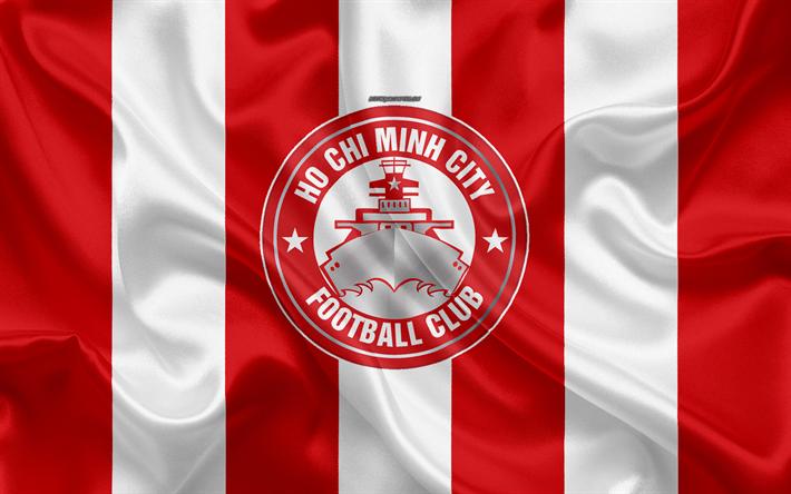 Scarica Sfondi Ho Chi Minh City Fc 4k Logo Seta Texture
