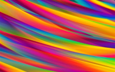 multicolored waves, colorful waves, rainbow, abstract art, creative, abstract waves