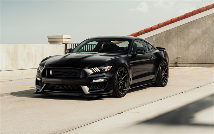 download wallpapers ford mustang 2018 black sports coupe luxurious tuning mustang new black. Black Bedroom Furniture Sets. Home Design Ideas