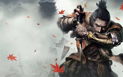 Sekiro, 4k, protagonist, Sekiro Shadows Die Twice, warrior, darkness