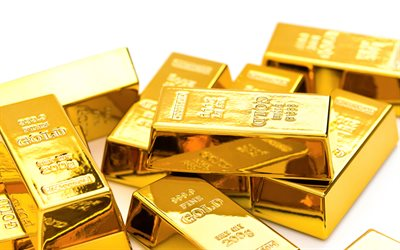 gold bars, gold bullion, 999 gold, finance concepts, gold concepts, precious metals concepts, gold on a white background