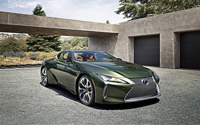 2020, Lexus LC, Inspiration Series, 4k, front view, exterior, luxury coupe, japanese cars, Lexus