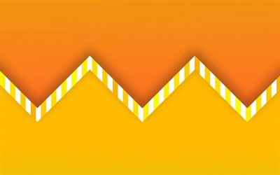 orange arrows, 4k, material design, abstract mountains, creative, geometric shapes, lollipop, arrows, pink material design, strips, geometry, orange backgrounds