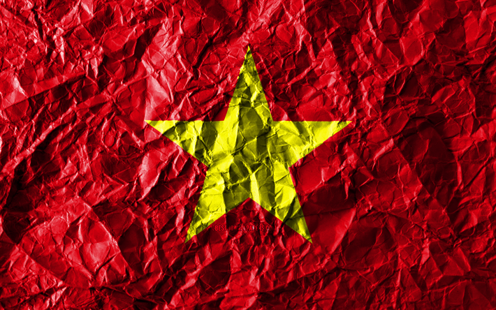 Download Wallpapers Vietnamese Flag 4k Crumpled Paper Asian Countries Creative Flag Of Vietnam National Symbols Asia Vietnam 3d Flag Vietnam For Desktop Free Pictures For Desktop Free