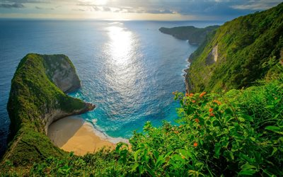 Kelingking Beach, summer travel, beautiful nature, paradise, Nusa Penida, Indonesia, Asia