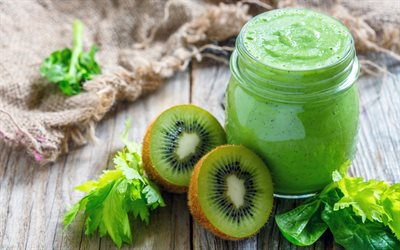 kiwi smoothies, green smoothies, kiwi, healthy drinks, fruit smoothies, smoothie glasses