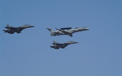 Indian Air Force, KW3555, Embraer EMB-145SM, E145, SU-30, indiano combattenti, indiano bomber