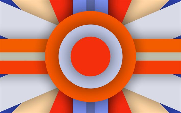 Fondo De Pantalla Abstracto Flores Y Circulos: Descargar Fondos De Pantalla Colorido De Abstracción, Los