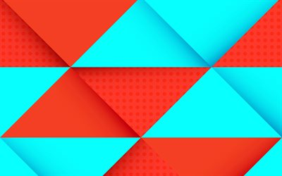 4k, rhombuses, geometry, strips, abstract material, art, lollipop, android