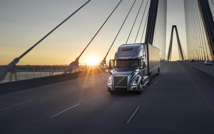 Descargar fondos de pantalla volvo vnl 760 4k 2018 camiones carretera puesta de sol volvo - Volvo vnl wallpaper ...