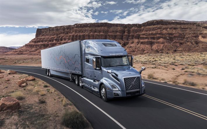 Descargar fondos de pantalla volvo vnl serie de 2017 los nuevos camiones transporte de carga - Volvo vnl wallpaper ...