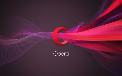 Opera, logo, web browser, creative