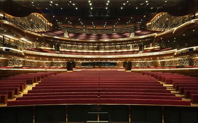 Dubai Opera, hall, lyx interiör, Förenade ARABEMIRATEN