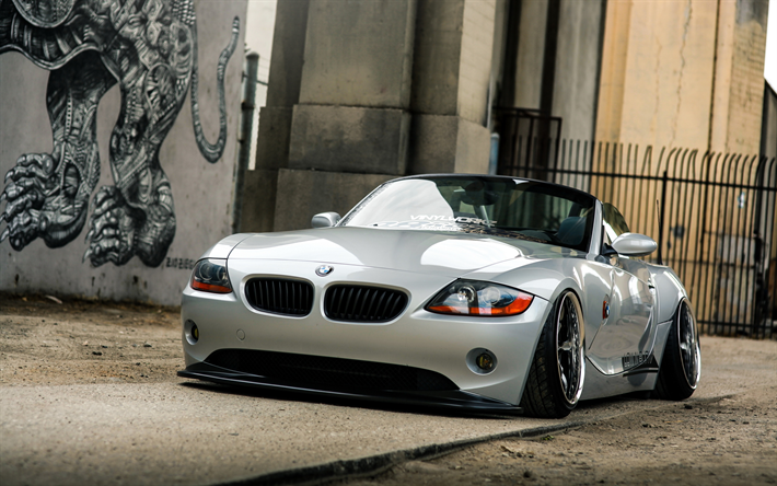 Download Wallpapers Bmw Z4 Stance E85 Tuning German