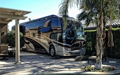 Foretravel IH-45, Motorhome, luxury bus, exterior, front view, american motorhomes, Foretravel