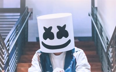 Christopher Comstock, 2019, Marshmello, american DJ, superstars, creative, DJ Marshmello, DJs
