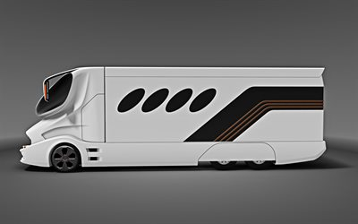eleMMent Palazzo Superior, Marchi Mobile, Motorhome, exterior, side view, futuristic design