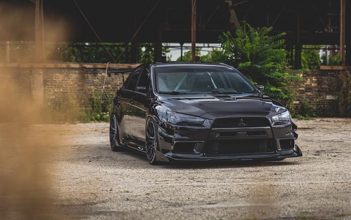 Mitsubishi Lancer Black Wallpaper