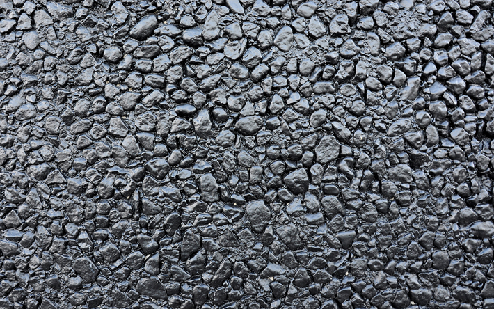 gray asphalt texture, close-up, gray stone background, gray stones, road texture, macro, asphalt, road, gray backgrounds