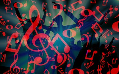 party background, music texture, background with treble clefs, music background, dance party background