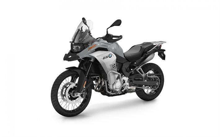 BMW F 850 GS Adventure, 2020, front view, exterior, new silver F 850 GS, german motorcycles, BMW