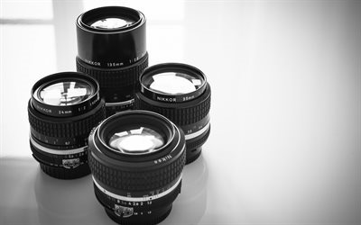 Nikon lenses, various lenses, photographers