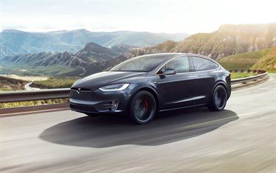 Download Wallpapers Tesla Model X 2017 4k Electric